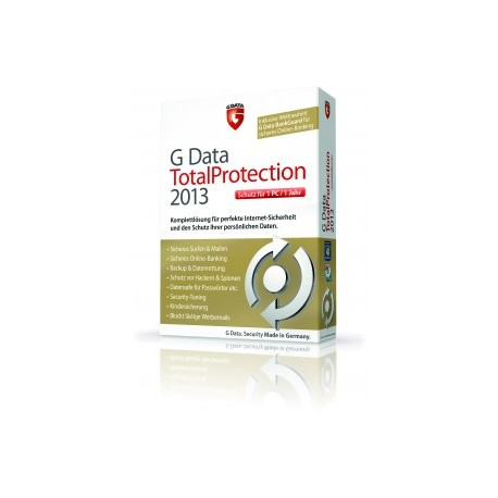 G DataTotalprotection 2013 1PC Lizenz 12 Monate